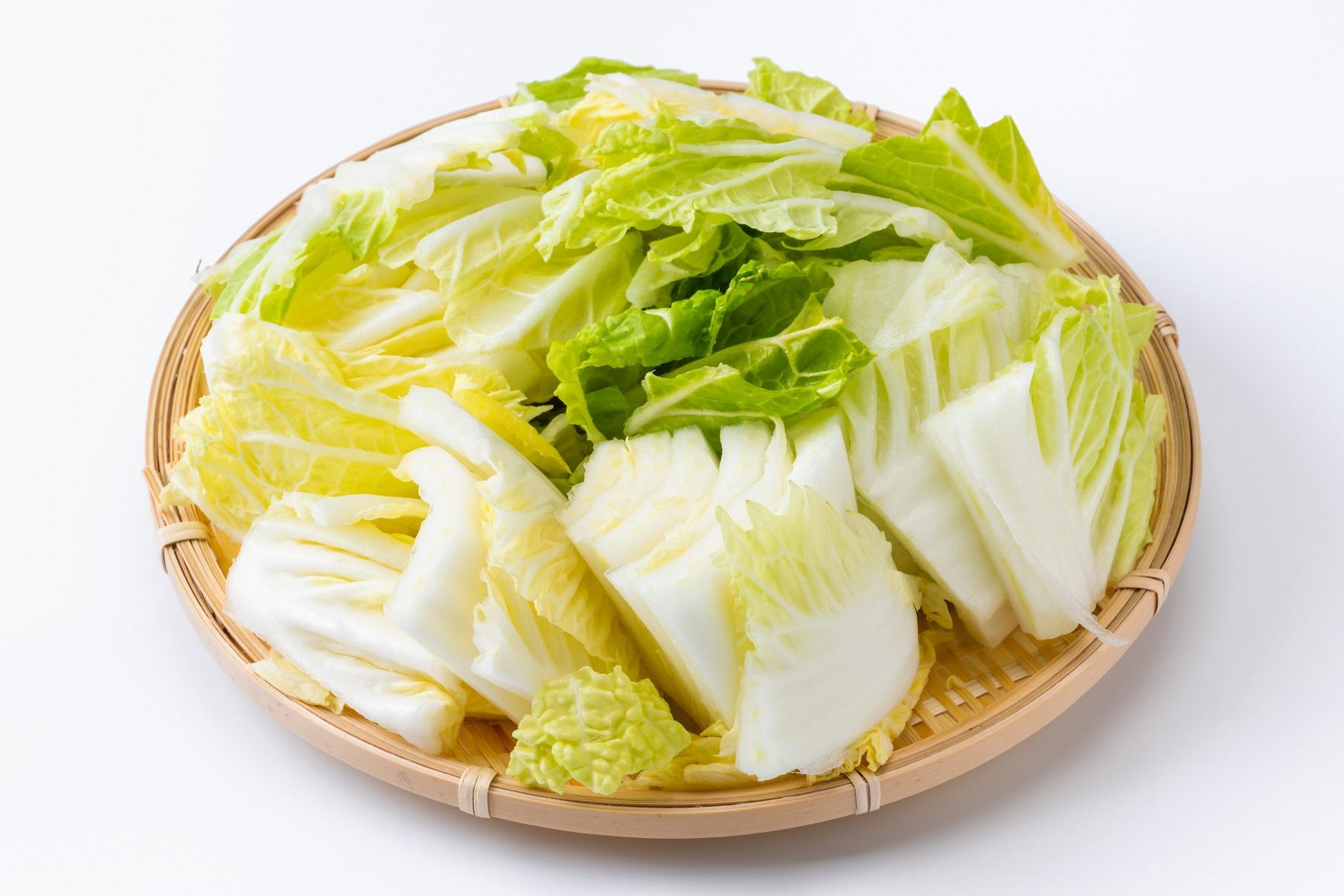 中区上前津パーソナルジム_ザク切りされた白菜の写真