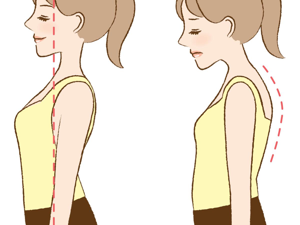 中区 上前津 パーソナルジム 姿勢改善する女性の様子