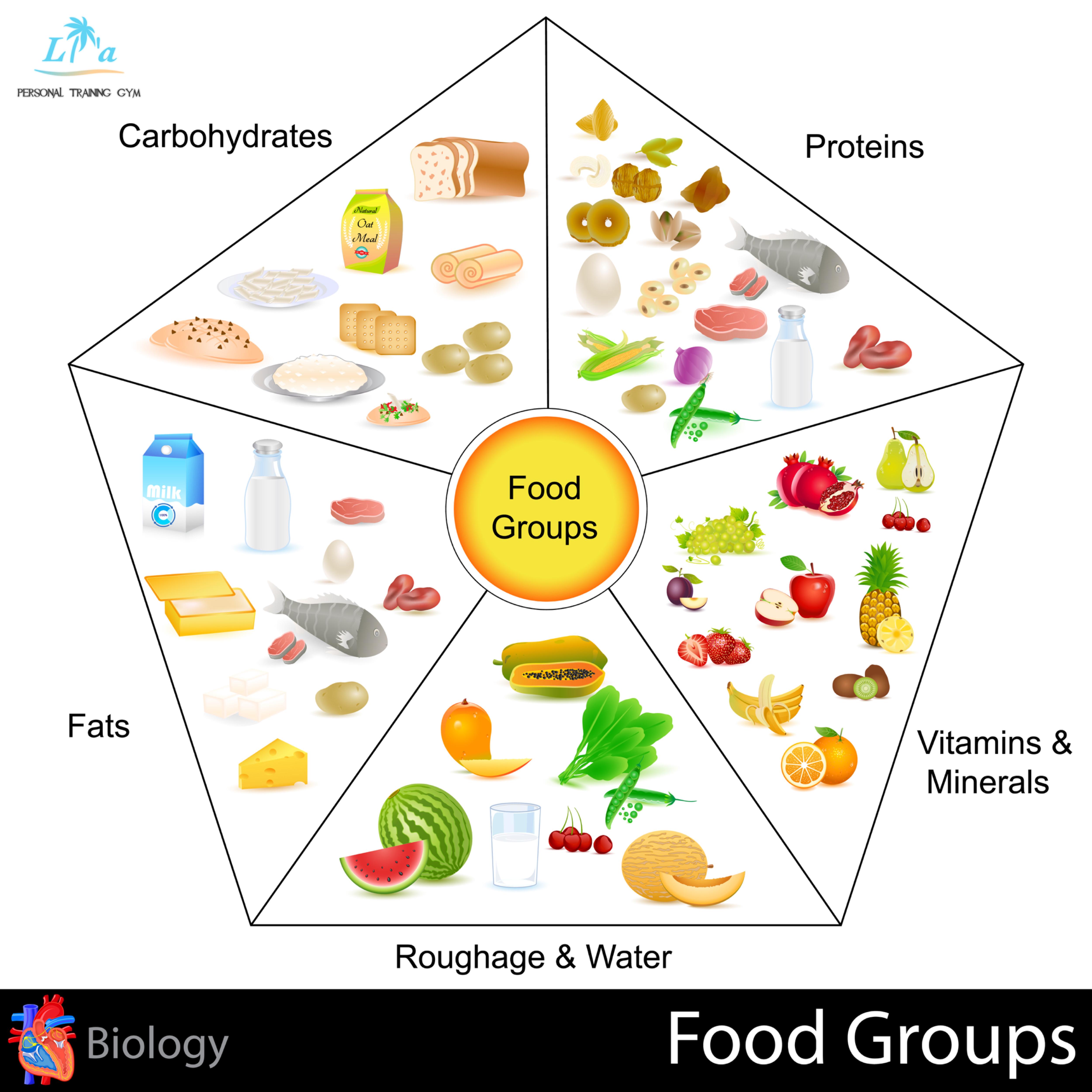 天白区パーソナルジムでの食事管理、タンパク質、脂質、炭水化物、ビタミンミネラルのバランス画像