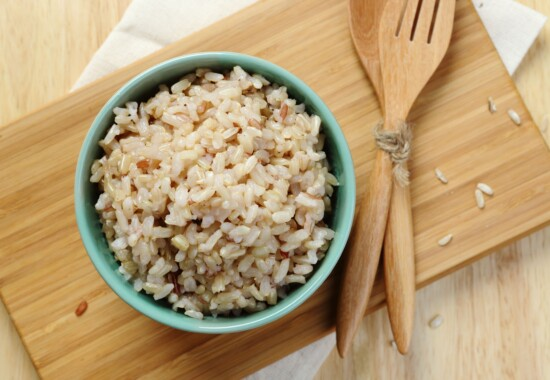 美味しそうな玄米の写真